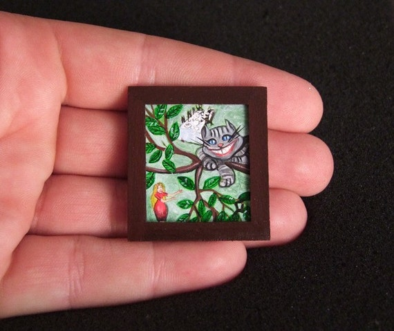 Original Miniature Painting Alice in Wonderland 2  SALE 70%OFF