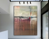 Original Modern Art ENORMOUS 5 Foot Modern Contemporary Oil Painting Ready To Hang Free Shipping By Sky Whitman