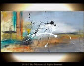 Original Abstract Art Large Raw Edgy Modern Contemporary Painting by Sky Whitman FREE SHIPPING