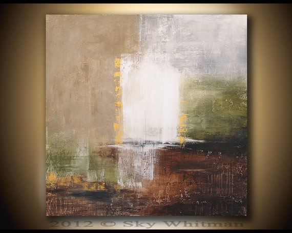 LARGE Original Modern abstract Art Textured Contemporary  36X36 Painting By Sky Whitman