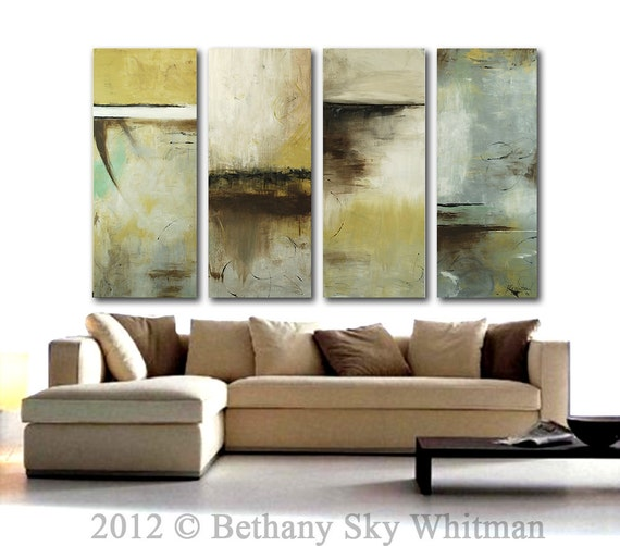 MASSIVE Original Modern Abstract Art Almost 7ft Contemporary Large Painting Sky Whitman 80 X 48  Ready To Hang HUGE SALE and Free Shipping