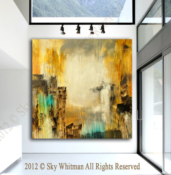 On Sale MASSIVE Original Modern Art Huge Square Abstract  Contemporary Painting  56 X 56 by Sky Whitman
