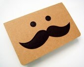 Moustache Notebook (blank pages)