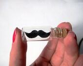 Moustache in a Bottle Necklace