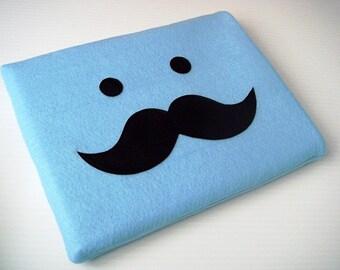 Felt iPad Sleeve / Case - Moustache