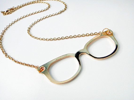 Gold Glasses Necklace