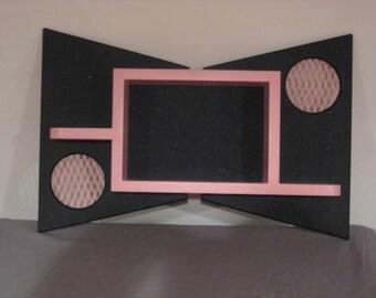 1950's style retro atomic shadow box shelf tiki deco