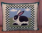 Vintage Rabbit Throw Pillow