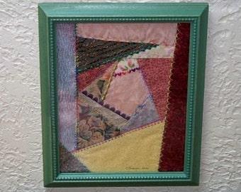 Framed Mini  Crazy Quilt