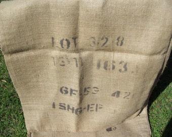 3 Burlap Coffee Bean Bags...