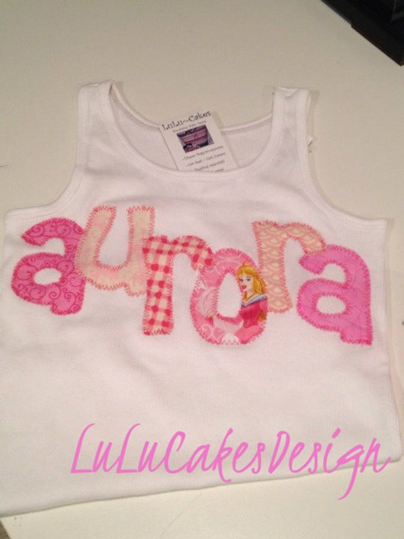 Custom Disney Sleeping Beauty embroidered tank top or tee...all princess' available