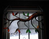 Sale - Take an additional 35% Off Use coupon Code June35 - Stained Glass Leaves Valance No. 5