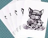 Play Nice - postcard set of 5