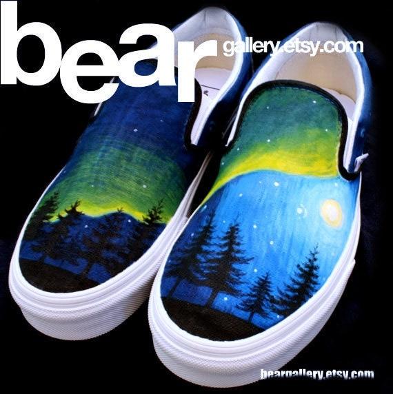 Custom Vans-- Alaska Aurora Borealis