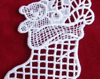 Christmas Stocking Lace Ornament