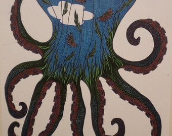 Octopus Garden- print of original illustration