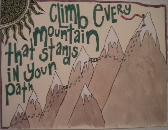 Climb- print of original illustration