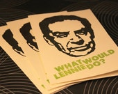 6 cards - What Would Lennie Do - Screenprinted Greeting Cards - 6 pack