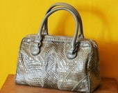 Vintage Snake skin Handbag Purse