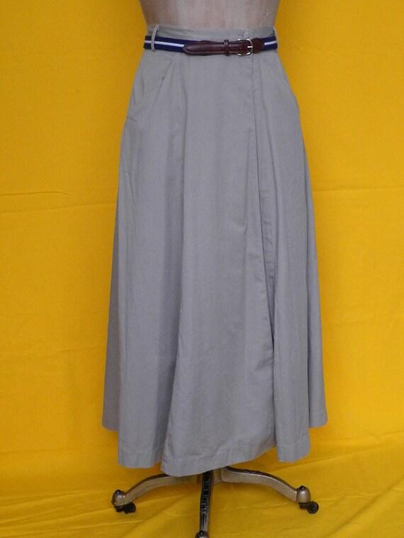 Vintage Banana Republic khaki skirt, long khaki skirt