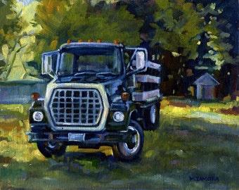 Roadside Rte. 1 - Freeport, Maine - Original Oil Painting - 8 x10 on Linen Panel