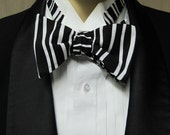 Black and White Men's Bow Tie