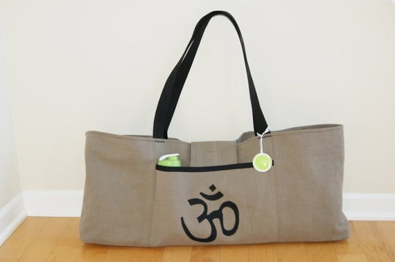 Xlarge Yoga or Tennis Bag witm OM Symbol - Made to Order.