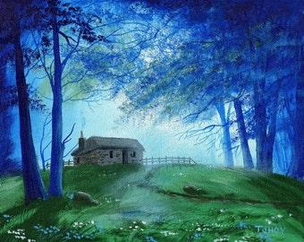 Enchanted Cabin 8 X10 ORIGINAL Thomas Justin Hoy