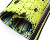 Travel changing pad, in spiders and stripes - SALE