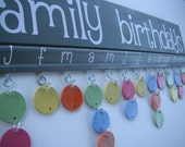 Spring Colors Family Birthdays Board