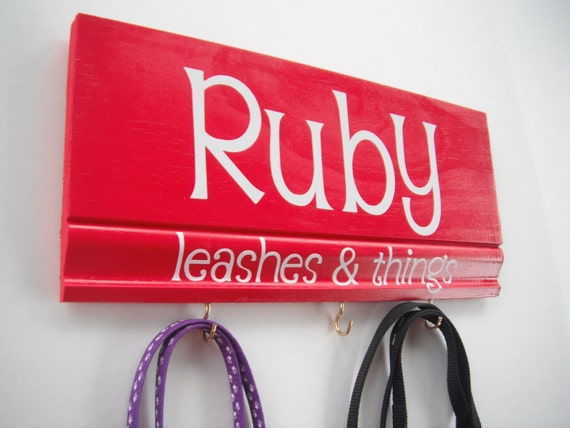 Personalized Pet Leashes & Things Hooks