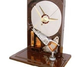 Got Coffee Shop-- Espresso Brown Glossy Computer Hard Drive Clock Great for any Coffee Lover.