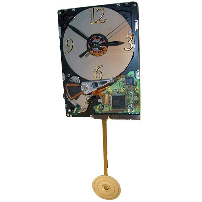 Rare Black Pendulum Wall Clock Vintage Early