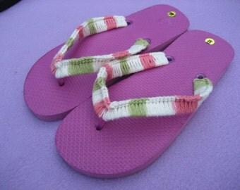 fun and flirty crocheted flip flops