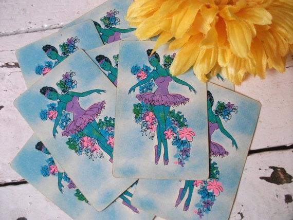 Lot of Ten Vintage Playing Cards - Ballerinas