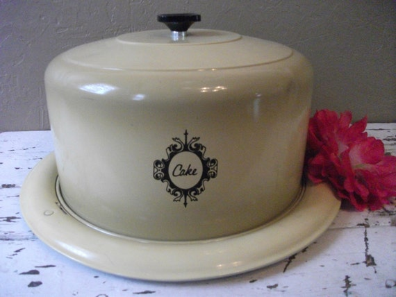 Vintage Metal Cake Carrier