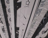 Set of 24 Bookmarks - Black and White
