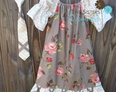 Reserved for Shauna - Brother and Sister Matching Outfits - Necktie & Boutique Long Ruffled Peasant Dress - Urban Jolie