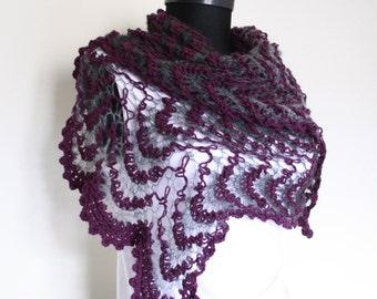 Knitting Shawl,Purple,Gray, Black,Perfect for winter,