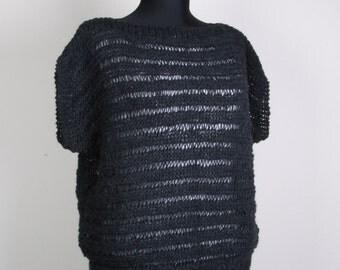 Knitting Dark Gray  sweater