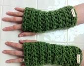 m.sartin fingerless mittens - grass green