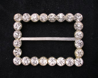 Rhinestone Belt Buckle Silver SALE