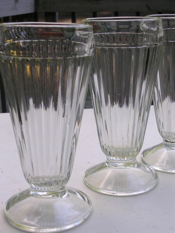 S Tall Ice Cream Glasses
