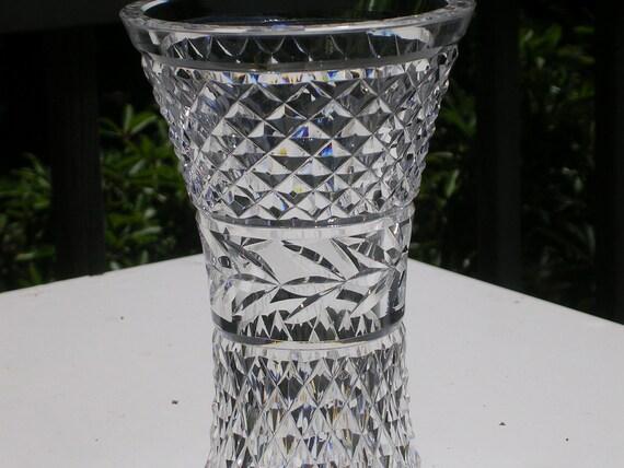 Waterford Crystal Vase Glandore Pattern