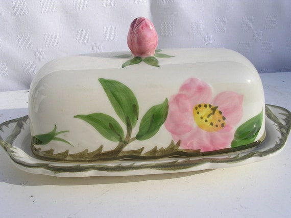 Franciscan Desert Rose Butter Dish with Lid