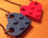 cute lego reversible heart necklaces.