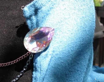 Gem Sweater Clip- Upcycled