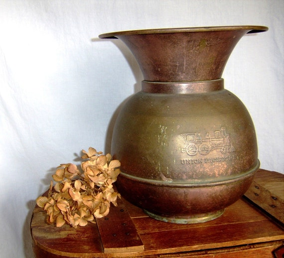 Vintage Copper Spittoon - Union Pacific RR