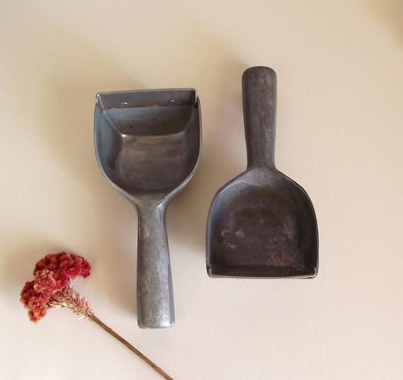SALE - 2 Vintage Industrial Heavy Ice Scraper Scoops