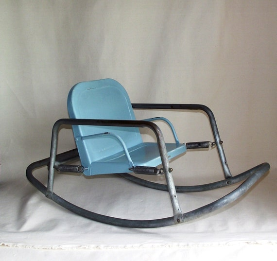 Sale Vintage Bouncy Baby Metal Rocking Chair
